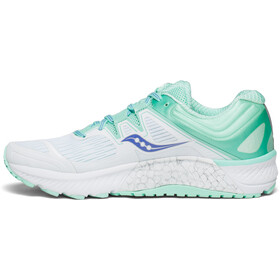 saucony Guide ISO - Zapatillas running Mujer - blanco/Turquesa